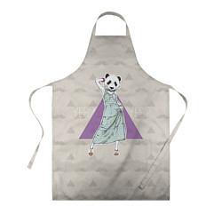 Фартук кулинарный Panda Girl: yes yes? цвета 3D — фото 1