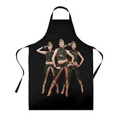 Фартук кулинарный Армейские девушки цвета 3D — фото 1