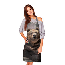 Фартук кулинарный Русский медведь цвета 3D — фото 2