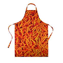 Фартук кулинарный Морковь цвета 3D — фото 1