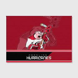 Холст прямоугольный Carolina Hurricanes цвета 3D — фото 2