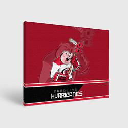 Холст прямоугольный Carolina Hurricanes цвета 3D-принт — фото 1