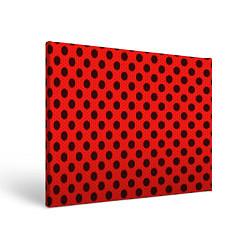 Холст прямоугольный Леди Баг: узор цвета 3D-принт — фото 1