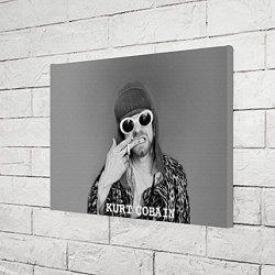 Холст прямоугольный Кобейн в очках цвета 3D-принт — фото 2