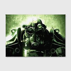 Холст прямоугольный Fallout Robot цвета 3D — фото 2