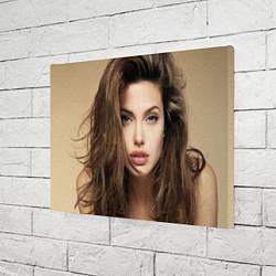 Холст прямоугольный Анжелина Джоли цвета 3D — фото 2