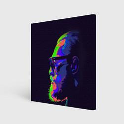 Холст квадратный McGregor Neon цвета 3D — фото 1