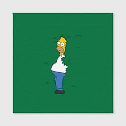 Холст квадратный с принтом Гомер в кустах, цвет: 3D, артикул: 10118912605506 — фото 2
