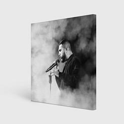 Холст квадратный Jah Khalib: Black mist цвета 3D-принт — фото 1