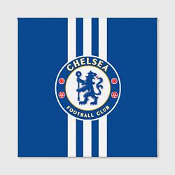 Холст квадратный FC Chelsea: Gold Lines цвета 3D — фото 2