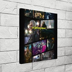 Холст квадратный Cyberpunk 2077: Stories цвета 3D — фото 2