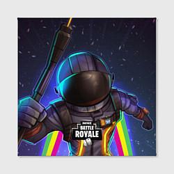 Холст квадратный Fortnite: Space Rainbow цвета 3D-принт — фото 2