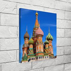 Холст квадратный Храм Василия Блаженного цвета 3D — фото 2
