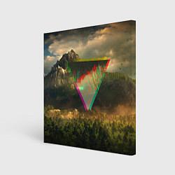 Холст квадратный 30 seconds to mars цвета 3D — фото 1