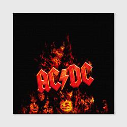 Холст квадратный AC/DC Flame цвета 3D — фото 2