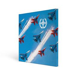 Холст квадратный Самолеты ВВС цвета 3D — фото 1