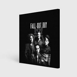 Холст квадратный Fall out boy band цвета 3D — фото 1