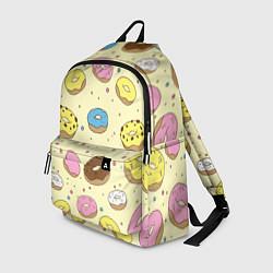 Рюкзак Сладкие пончики цвета 3D — фото 1