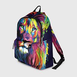 Рюкзак Красочный лев цвета 3D-принт — фото 1