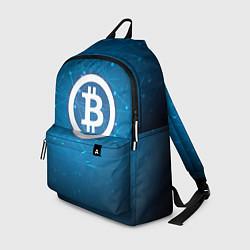 Рюкзак Bitcoin Blue цвета 3D-принт — фото 1