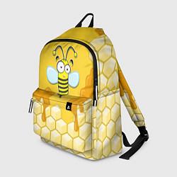 Рюкзак Веселая пчелка цвета 3D-принт — фото 1