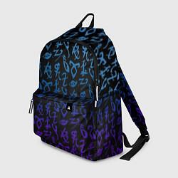 Рюкзак Blue Runes цвета 3D — фото 1