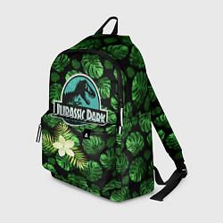 Рюкзак Jurassic World: Green Flowers цвета 3D-принт — фото 1