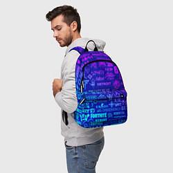 Рюкзак Неоновые геймерские лого цвета 3D — фото 2