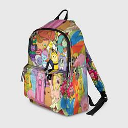 Рюкзак Adventure time цвета 3D-принт — фото 1