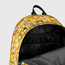 Рюкзак Смайлики Emoji цвета 3D-принт — фото 2