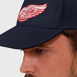 Бейсболка Detroit Red Wings цвета тёмно-синий — фото 2