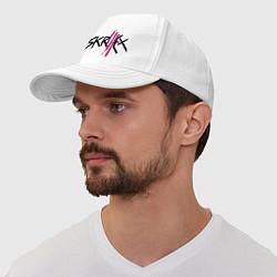 Бейсболка Skrillex: violet цвета белый — фото 1