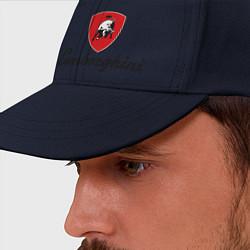 Бейсболка Logo lamborghini цвета тёмно-синий — фото 2