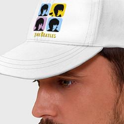 Бейсболка The Beatles: pop-art цвета белый — фото 2