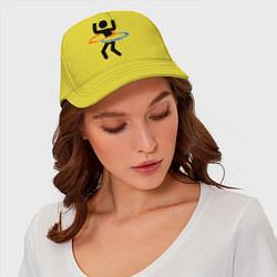 Бейсболка Portal Рoops цвета желтый — фото 2