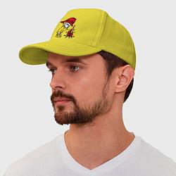 Бейсболка Ручной пожарник цвета желтый — фото 1