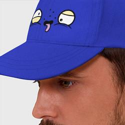 Бейсболка Усталые глаза цвета синий — фото 2