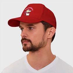 Бейсболка Хозяюшка цвета красный — фото 1