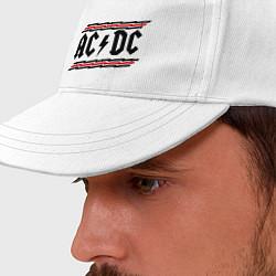 Бейсболка AC/DC Voltage цвета белый — фото 2