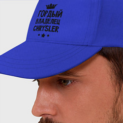 Бейсболка Гордый владелец Chrysler цвета синий — фото 2