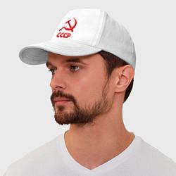 Бейсболка СССР Логотип цвета белый — фото 1