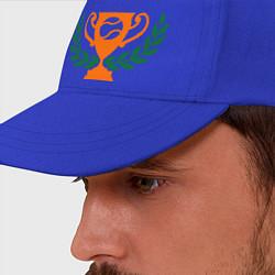Бейсболка Чемпион по теннису цвета синий — фото 2