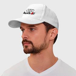 Бейсболка Audi цвета белый — фото 1
