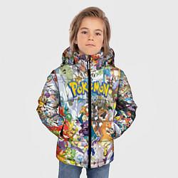 Куртка зимняя для мальчика Покемоны цвета 3D-черный — фото 2