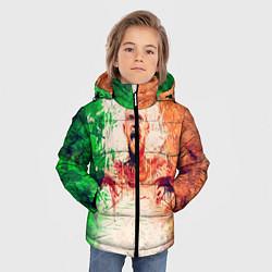 Детская зимняя куртка для мальчика с принтом Conor McGregor: Ireland, цвет: 3D-черный, артикул: 10102373006063 — фото 2