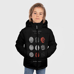 Куртка зимняя для мальчика Twenty one pilots: Blurrveace цвета 3D-черный — фото 2