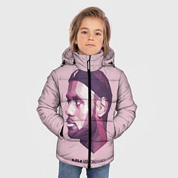 Куртка зимняя для мальчика LeBron James: Poly Violet цвета 3D-черный — фото 2