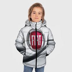 Детская зимняя куртка для мальчика с принтом FIAT, цвет: 3D-черный, артикул: 10106631206063 — фото 2