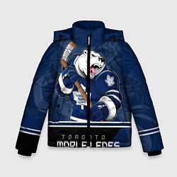 Куртка зимняя для мальчика Toronto Maple Leafs цвета 3D-черный — фото 1