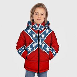 Куртка зимняя для мальчика Флаг советской конфедерации цвета 3D-черный — фото 2